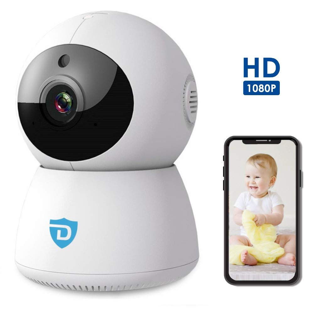 WiFi Home Security Camera | with 2 Way Audio | Indoor | Baby Monitor | 1080P Full HD Camera with Night Vision | Pan Tilt 360° Camera | Android and iOS app by Detepo