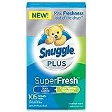 Snuggle Plus Super Fresh Fabric Softener Dryer Sheets, EverFresh, 105 Count