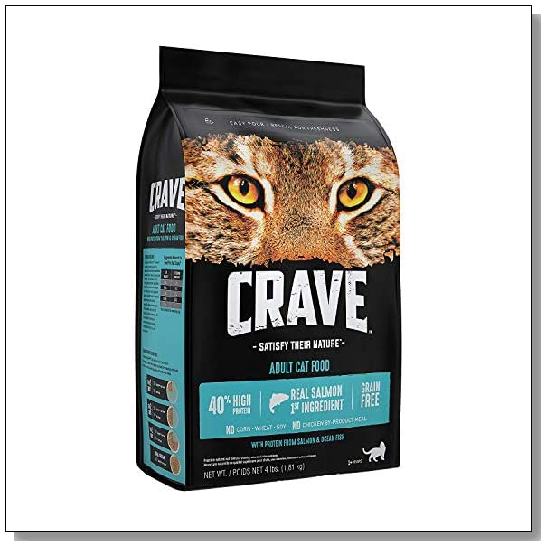 CRAVE Grain Free Dry Cat Food with Protein from Salmon and Ocean Fish