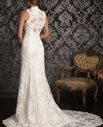 afccb0d8bb97 DreHouse Women s Lace Vintage Country Style Wedding Dresses Backless ...