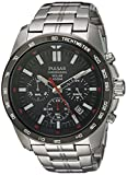 Pulsar Men's Japanese-Quartz Watch with Stainless-Steel...