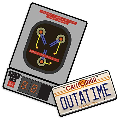 (Back to The Future Outatime Plate and Flux Capacitor Collectible)