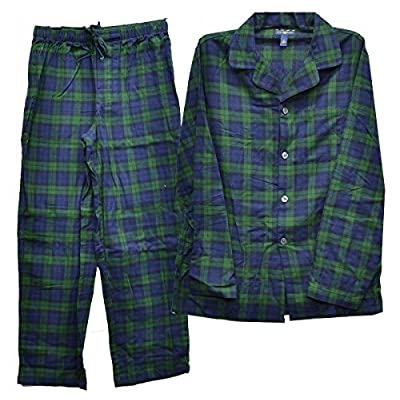 Club Room Men's Fleece Patterned Pajama Pant Set Blue Plaid Small for cheap