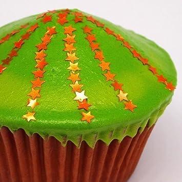 Natural comestible naranja OMG tuercas gluten azúcar libre con purpurina estrellas: Amazon.es: Hogar