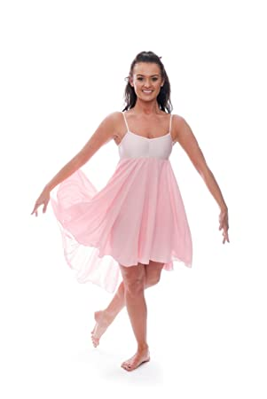 a30e9de615be Ladies Girls Pale Pink Lyrical Dress Contemporary Ballet Modern Dance  Ballroom Costume By Katz Dancewear (