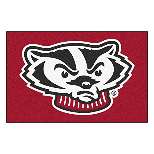 FANMATS NCAA University of Wisconsin Badgers Nylon Face Starter Rug (Wisconsin Carpet Badgers)