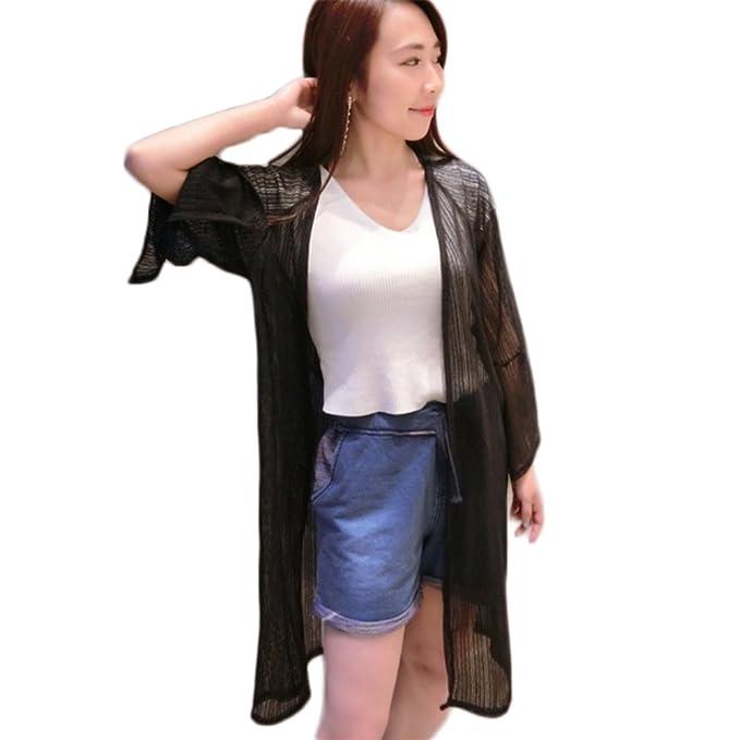 Amazon.com: freedi ropa Kimono con protección solar mujer ...