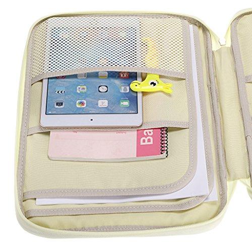 BTSKY New Multi-Functional A4 Document Bags Portfolio Organizer-Waterproof