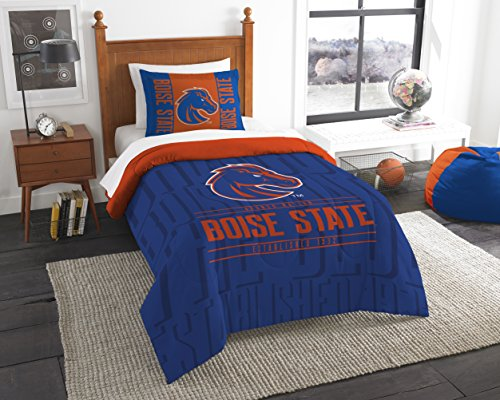 The Northwest Company Officially Licensed NCAA Boise State Broncos Modern Take Twin Comforter and Sham