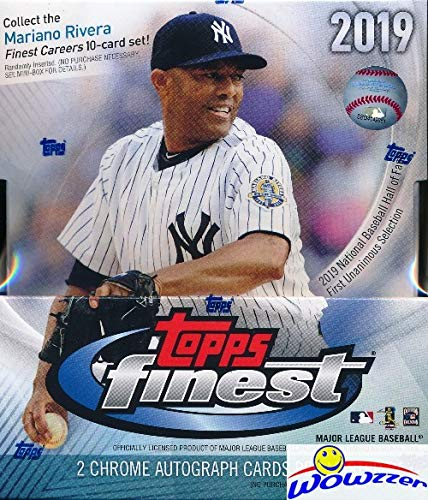 (2019 Topps Finest MLB Baseball Factory Sealed 12 Pack HOBBY Box with TWO(2) AUTOGRAPHS! Look for Rookies & Autos of Vladimir Guerrero Jr, Pete Alonso, Eloy Jimenez, Fernando Tatis Jr)