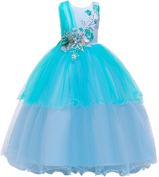 K-Youth Vestido Princesa Niña Vestido de Fiesta Niña Disfraz Noche ...