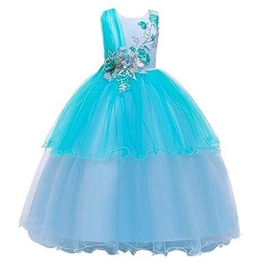 Brillanto Vestido Tul Niña Vestido de Fiesta Boda 3-11 Años ...