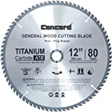 Concord Blades WCB1200T080HP 12-Inch 80 Teeth TCT General Purpose Hard & Soft Wood Saw Blade