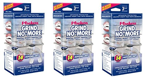 Plackers Grind No More Dental Night Protector, 14 Count (3 Pack)