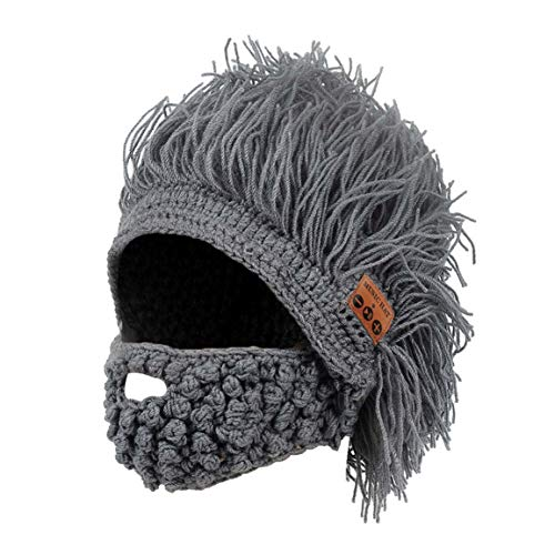 Cap Bluetooth Hat Music Beanie Barbarian with Beard Whiskers Party Costume Ball Winter Daily Use]()