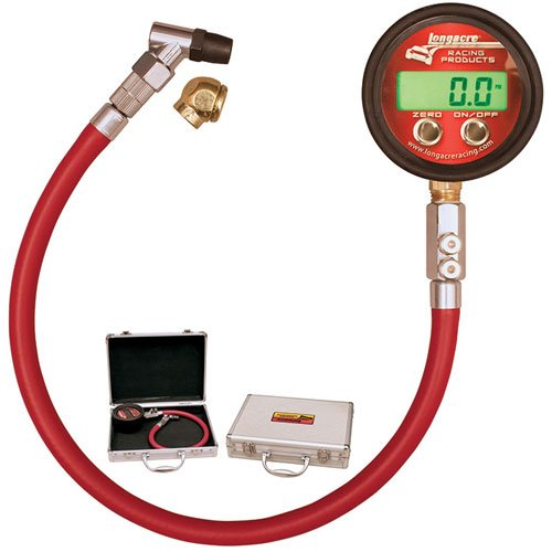 LONGACRE 2-1/2 in Digital 0-125 psi Pro Digital Tire Pressure Gauge P/N 53028 by Longacre