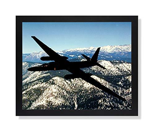 USAF U2 Spy Plane Jet Airplane Picture Black Framed Art - U2 Spy Pictures Plane
