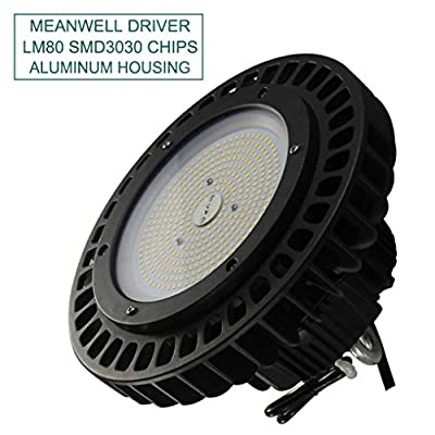 LED UFO High Bay Light 5000K Daylight 100-277V Dimmer Cord Included Warehouse Lighting