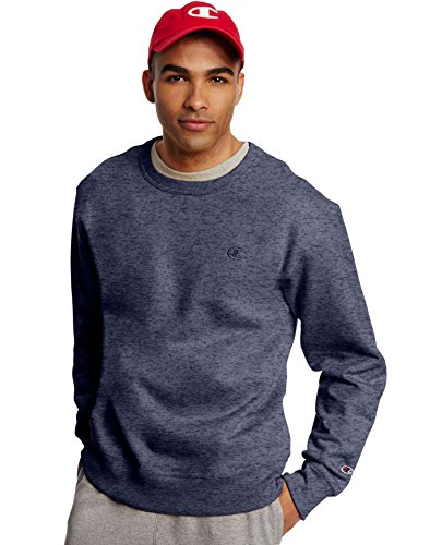 - Champion by Men's Powerblend Fleece Pullover Sweatshirt_Navy Heather_M