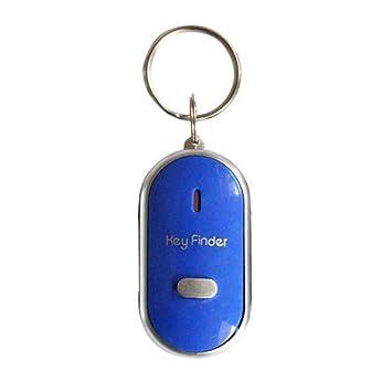 censhaorme LED Bips lumière Clignotante Key Finder Trouver Perdu Trousseau  Whistle Keyring Sound Control Cadeau 869efb219a7