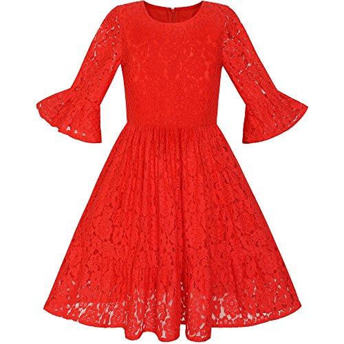 Vestido rojo de nina para boda