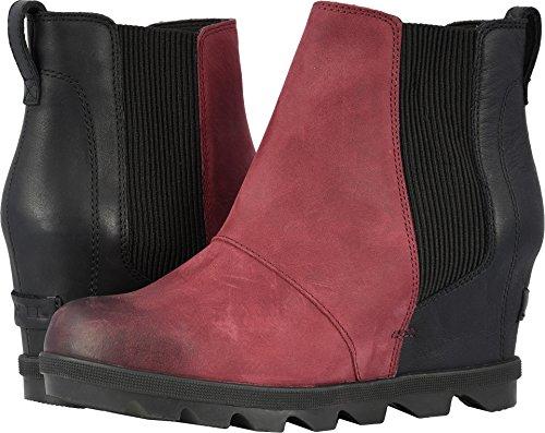 Sorel Womens Joan of Arctic Wedge II Chelsea Boot, Rich Wine, Size 6.5