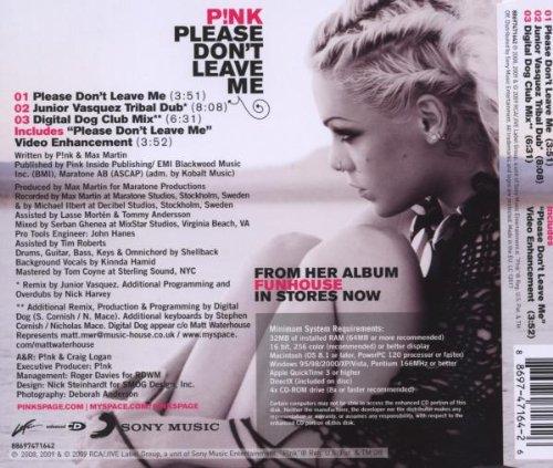 Pink Please Dont Leave Me Remixes Amazoncom Music