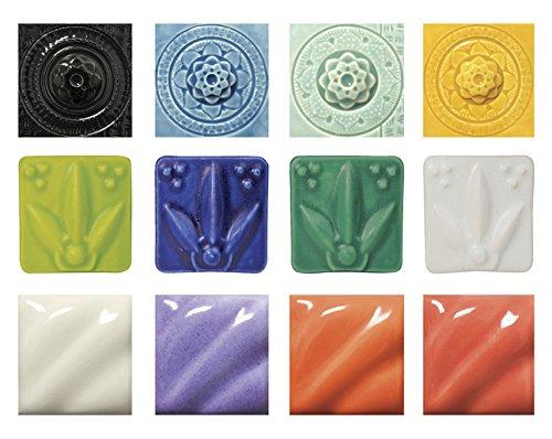 AMACO High-Fire Glaze Packs, Spring Colors, Set of 12