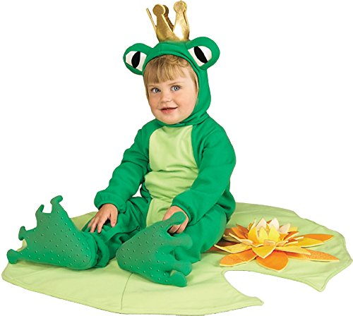 [UHC Baby's Lil Frog Prince Lily Pad Infant Fancy Dress Halloween Costume, 6-12M] (Toddler Frog Prince Halloween Costume)