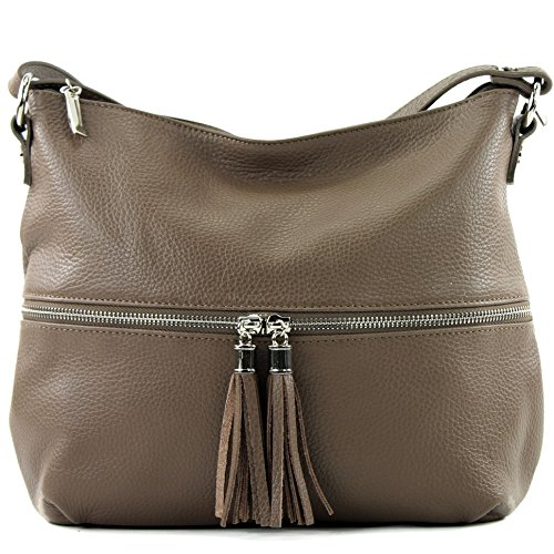 Shoulder bag ital Leather Chocolate modamoda Leather T159 Leather bag Brown de bag pYnqOFw