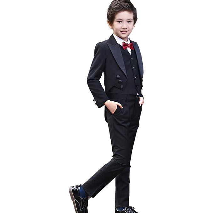Amazon.com: Michealboy - Traje formal para niño con chaqueta ...