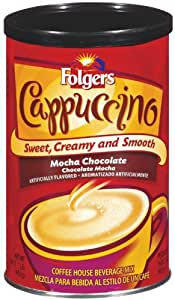 Folgers Coffee Ground Cappuccino Mocha Chocolate, 16 Ounce (Pack of 6)