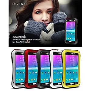 HP LoveMei Antichoc Etanche Robuste Waterproof Shockproof Protection Metal Case for SAMSUNG GALAXY Note4(Delivery color)¡ú(Black)