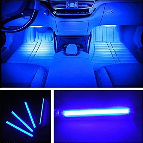 Car interior lights,HengJia Auto Parts LED General Car Interior Floor Lights,Atmosphere Lights Strip,Waterproof Glow Neon,Decoration Lamp (blue)