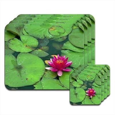 Compra Agua Lilly en agua con rosa de flor de loto juego de 4 ...