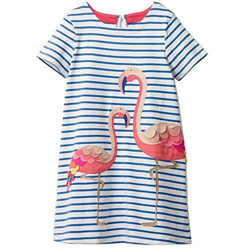 Designs Of Dresses For Girls - Little Girls Dress Cartoon Cotton Kids