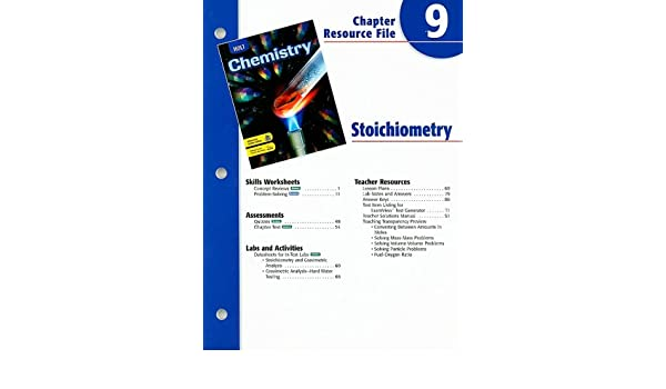 Counting Number worksheets fun chemistry worksheets : Holt Chemistry Chapter 9 Resource File: Stoichiometry: Holt ...