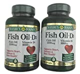 2-Pack Natures Bounty Fish Oil (1200 mg) Plus Vitamin D3 (1000 IU) 90 Rapid Release Softgels (180 softgels total) Review