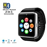 Indigi GT8 GSM Touch Screen Bluetooth Camera MP3 Wireless Smart Watch Phone Unlocked!