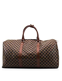 LADIES DESIGNER TRAVEL GYM SPORTS BAG WOMEN STYLE BARREL FLORAL CHECK LUGGAGE