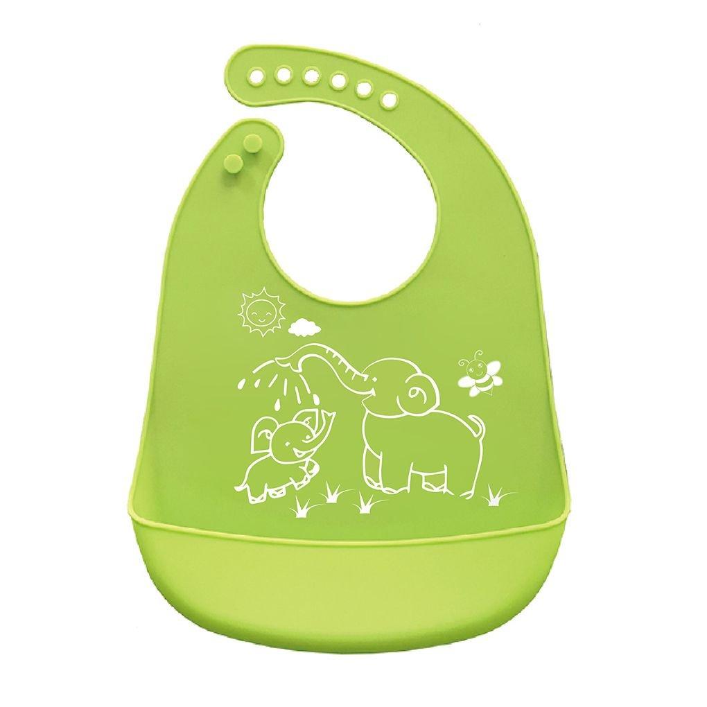 Mengonee Cartoon-Drucke Kinder Silikon-L/ätzchen einstellbar Wasserdicht Babyern/ährung Sch/ürze Kinder Crumb Catcher