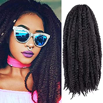 Amazoncom 3 Packs Afro Marley Braid Hair Extensions Kinky Curly
