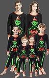 shelry Matching Family Pajamas Halloween Costumes Glow in Dark 2 Piece PJs for Mom Dad Kids Pyjamas