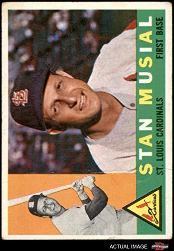 (1960 Topps # 250 Stan Musial St. Louis Cardinals (Baseball Card) Dean's Cards 2 - GOOD Cardinals)