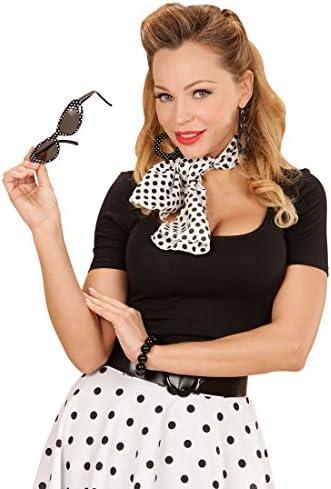 boucle d/'oreille /& écharpe Lot Costume Déguisement Neuf 50 S Femme Rock N Roll lunettes de soleil
