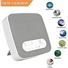 White Noise Machine for Sleeping, BESTHING Sleep Sound Machine with Non-Looping Soothing Sounds for Baby Adult Traveler, Portable for Home Office Travel. Built in USB Output Charger & Timer.