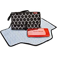 Skip Hop Pronto Changing Station with Changing Mat and Wipes Case, Black Onyx Tile