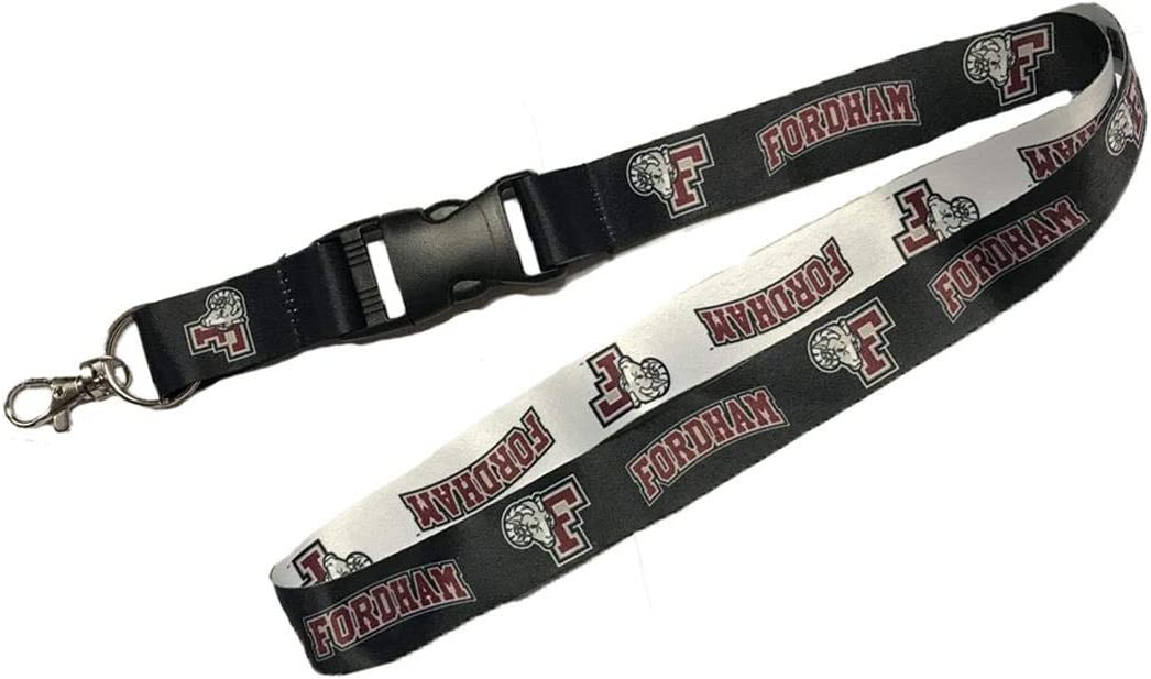 1 inch Wide 23 inches Long PSG INC Fordham University Rams Premium Lanyard W//Detachable Buckle