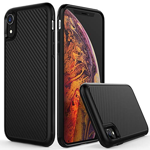 TIANLI Slim Fit Soft Flexible TPU Case Compatible iPhone XR 6.1 inch 2018 Release Ultra Thin Anti-Fingerprint Lightweight Protective Phone Cover Black