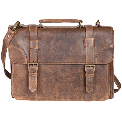 Scully 81st Aero Squadron Lambskin Satchel Brief